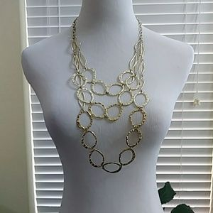 Jewelry - Tri-Strand Hammered Necklace